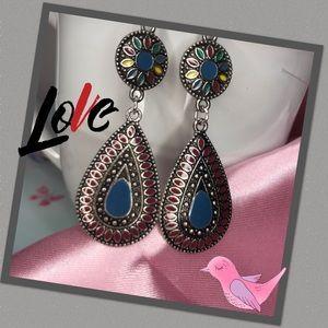 Beautiful Boho dangle teardrop earrings